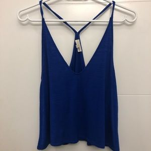 Blue crop Wilfred Free tank top from Aritzia